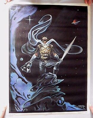 DARK STARLORD Poster 18x24 Dante Volpe 1977 published by Art Graphics
