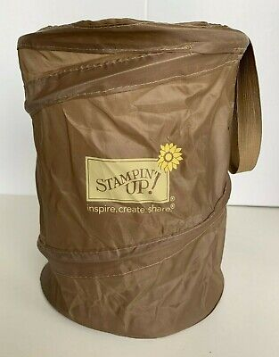Stampin' Up! Collapsible Brown Trash Bin Pop Up Can