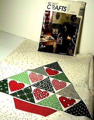 Vintage Christmas Fabric & McCall's Pattern Tree Skirt Stocking Pillow Table