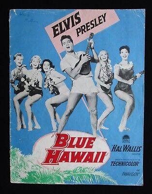BLUE HAWAII 1961 Original movie programme Elvis Presley classic Joan Blackman