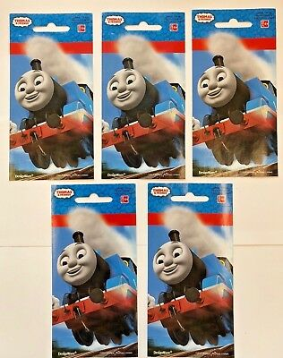 5 Jumbo Thomas the Tank Engine stickers 4.75
