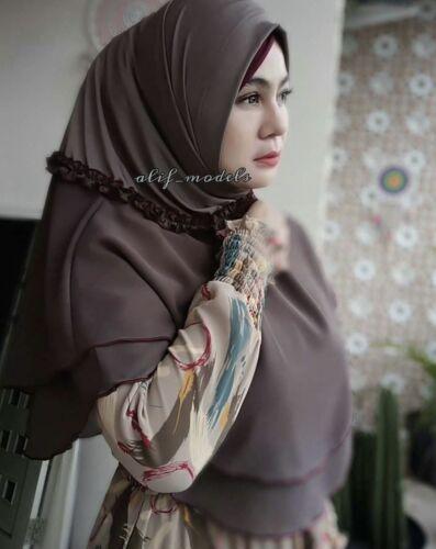 Terasi Khimar & Underscarf Set Instant Hijab One Piece Slip On Pinless HeadScarf