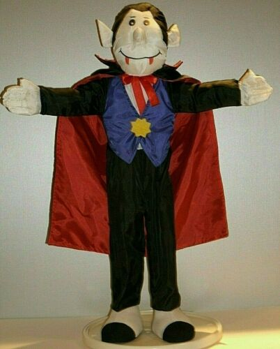 "Halloween Goffa Dracula Vampire Doll Plush Standing 24"" Tall Pose-able"