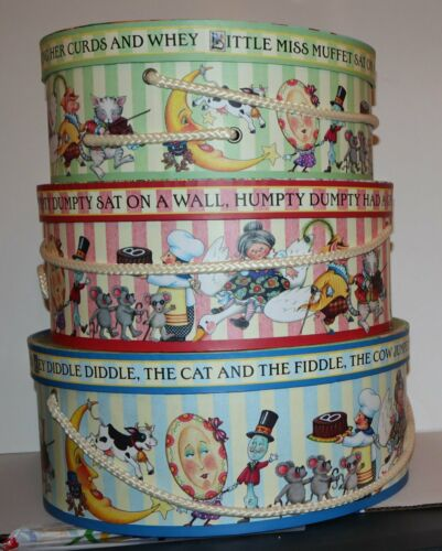 "RARE Mary Engelbreit nesting box set of 3 fairy tales unused mint condition 14"""