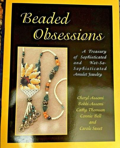 BEADED OBSESSION AMULET JEWELRY STEP BY STEP NEW 1998 BEADING CHART BEADGANG