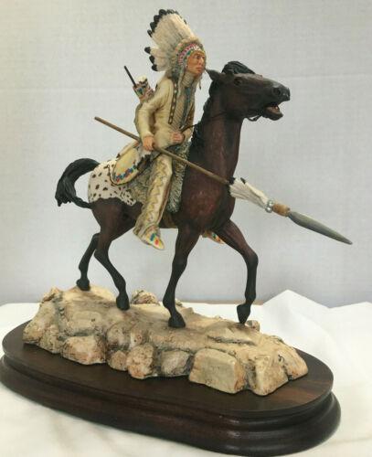 "Border Fine Arts "" Plains Warrior"" by Don Polland ( rare)"