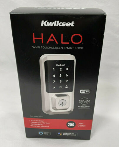 Kwikset 99390-001 Halo Wi-Fi Smart Lock Keyless Entry Electronic Touchscreen