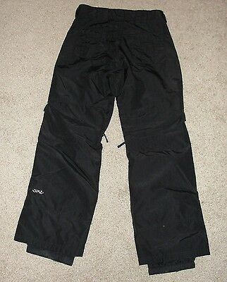 Looks New Womens Sims Snow Pants Sz S Black Solid Ski Snow Pants (Sims Snow Pants)