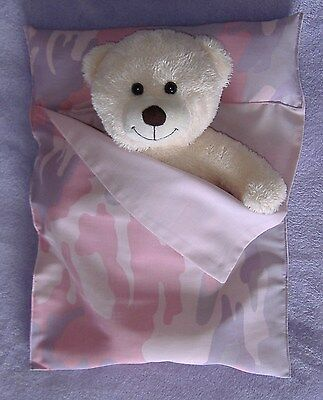 Pink Camouflage Sleeping Bag (Pink Camouflage Camo Cotton sleeping bag for Build a Bear)
