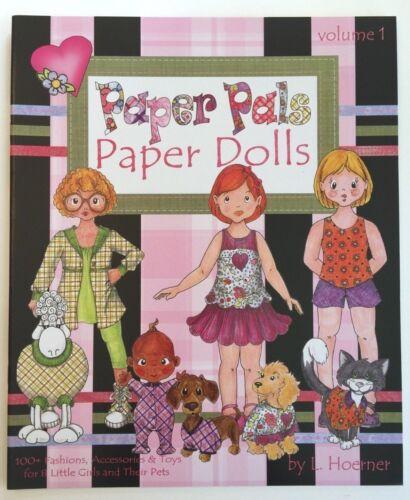 PAPER PALS Paper Dolls--8 Multi-Ethnic Dolls, Pets & 100+ Costumes & Accessories