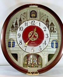 Seiko Melodies in Motion Wall Clock 24 Classical Pop Holiday Selection SEE VIDEO