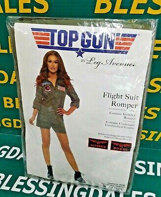 """Leg Avenue"" Women's Top Gun Flight Suit Romper Green Khaki, Size X-Large"