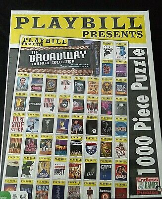 Playbill Puzzle Best of Broadway 1000 Pieces Jigsaw New in Box NIB -