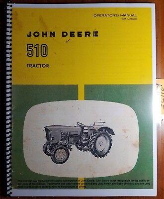 John Deere 510 Tractor Owners Operators Manual Om-l25009 K6 1166