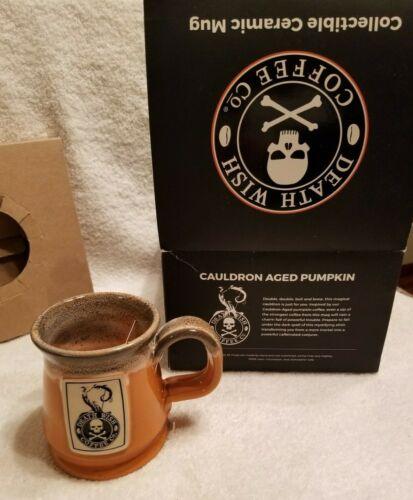 Death Wish Coffee Mug Cauldron Aged Pumpkin NIB!!  RARE!!! #1536/3500