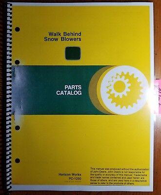 John Deere 526 726 826 732 832 1032 Snow Blower Parts Catalog Manual Pc-1250 78
