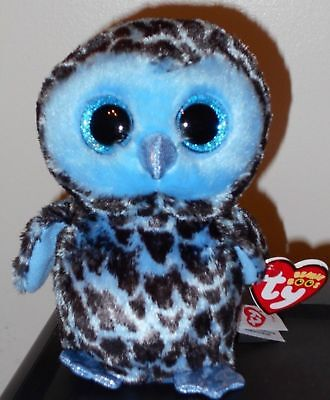 """Ty Beanie Boos ~ YAGO the 6"""" Owl ~ Stuffed Toy ~ 2018 BRAND NEW w/ Tags ~IN HAND"""