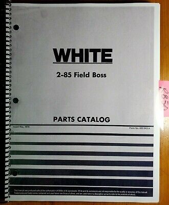 Wfe White 2-85 Field Boss Tractor Parts Catalog Manual 433 243a 576