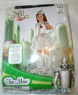 6 pc NEW WIZARD OF OZ TIN MAN dress-up headband costume play set outfit S 4-6