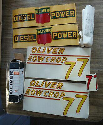 Vintage Oliver 77 Row Crop Tractor Decals