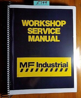 Massey Ferguson Mf50 Mf50a Tractor Backhoe Loader Workshop Service Manual 672