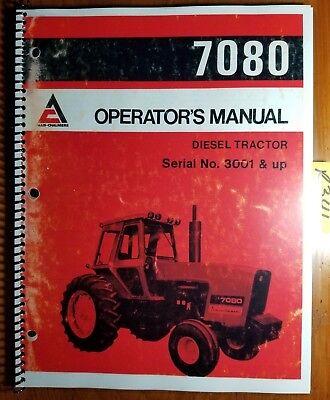 Allis-chalmers 7080 Diesel Tractor Sn 3001- Owner Operator Manual 261571 779