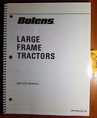 Bolens 1886s-05 1886s-06 2086 2087 2288 2289 2389 Large Tractor Service Manual
