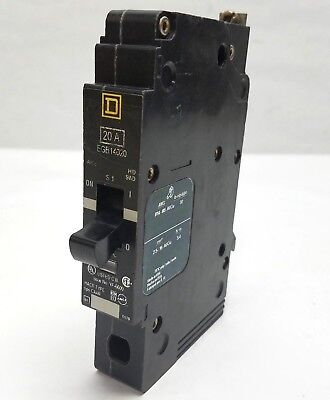 Square D Egb14020 Circuit Breaker 20a 1p 277v 5060hz 20 Amp 1 Pole Bolt On Used