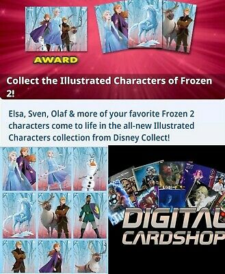 Topps Disney Collect Card Trader Frozen 2 Illustrated Characters Set of 9 Cards