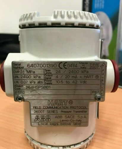Gauge Pressure Transmitter 264HSPSBB1 ABB