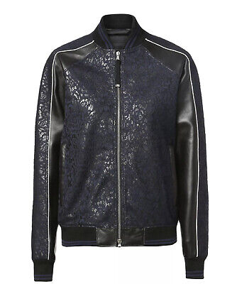 $1495 Diesel Men's  Black Gold Edition Lorette Black Leather Jacket Size 38