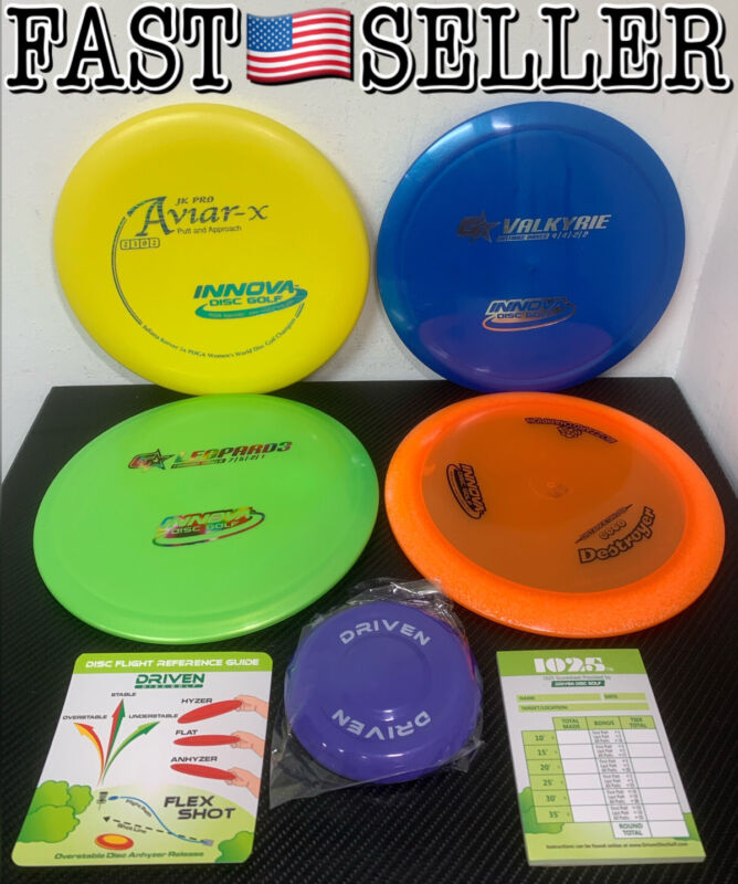 Innova Disc Golf Championship Set, 4 World Record Breaking Discs + Bonus! NEW!