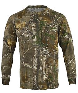 Mens Jungle Print Camouflage Army Combat  Long Sleeve T Shirt Fishing Hunt