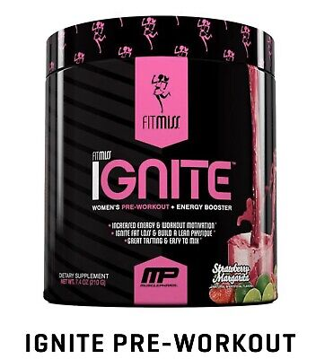 FitMiss Ignite Pre-Workout + Energy Booster - Strawberry Margarita - 30 Serving