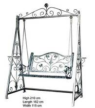 Swing Chair, Iron Garden Swing Chair in Silver Colour Castle Hill The Hills District Preview