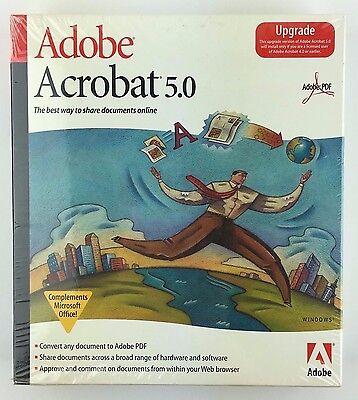 Adobe Acrobat 5 0 Upgrade Adobe Pdf Compliments Microsoft Office Windows