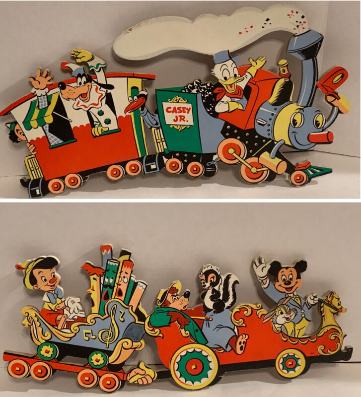 Vintage Disney Chipboard Nursery Hanging Wall Decor 2-Pieces Dolly Toy Company