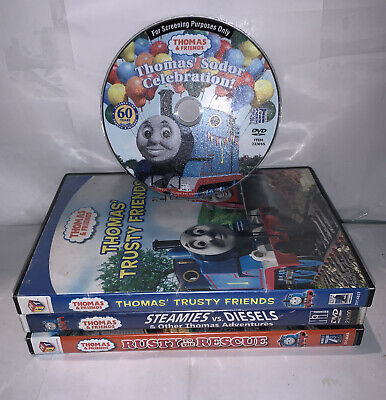 Thomas the Train and Friends - Lot of 4 DVDs Movies Discs #B1