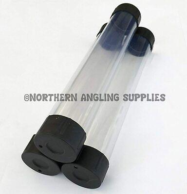 "3 x NAS 2"" Clear Plastic Float Tube - Length 12"""