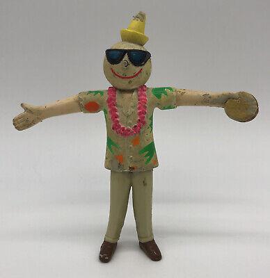 "Vintage JACK-in-the-BOX Restaurant Bendy 4.5"" Figure Hawaiian"