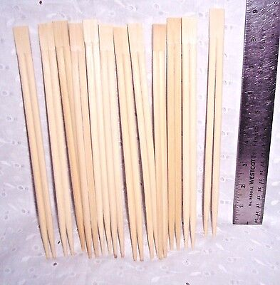 "CHOPSTICKS SET 6 PAIR WOODEN NATURAL COLOR -9"" L-FOOD-PARTY PROP-CRAFTS"