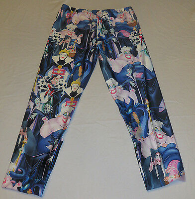 Disney Female Villians Polyester Spandex Yoga Pants/Leggings OSFM Adults  - Disney Female Villians