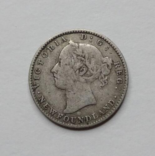 1890 Newfoundland Canada Silver Dime 10 Cents