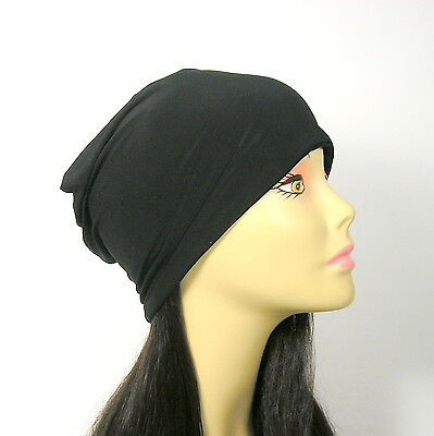 Lycra Skull Cap - Chef's Headgear Black Lycra Chef's Hat Bike Helmet Skullcap Cool Helmet Liner