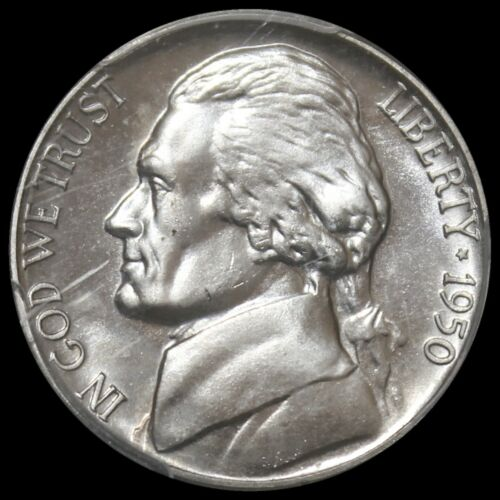 1950 Jefferson Nickel Proof - PCGS PR66 - Stunning  - $60.00