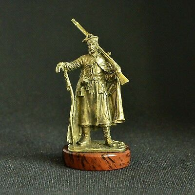 Art Deco Vintage Bronze Slavic Warrior Registered Cossack Statuette Figurine ()
