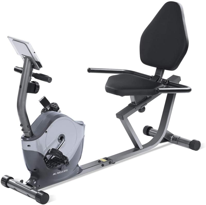 Maxkare Recumbent Exercise Bike Indoor Cycling Stationary Bi