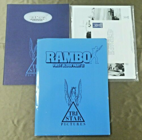First Blood II Rambo Movie Press Kit Sylvester Stallone Folder Booklet Photos