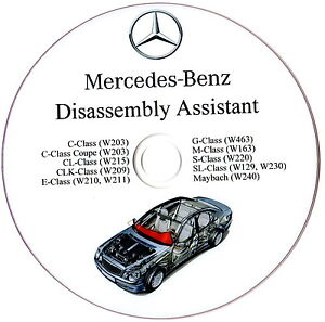 Mercedes benz disassembly assistant workshop manual w210 for Mercedes benz ml320 repair manual