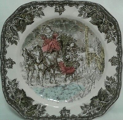 Johnson Brothers Friendly Village Getting The Tree Square Salad Plate  S    New